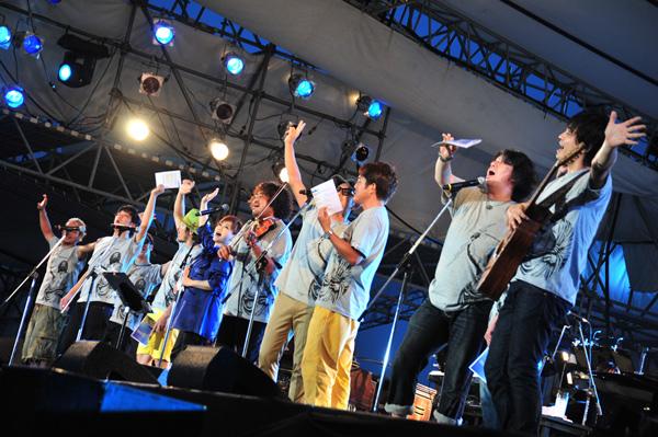 ライブ情熱大陸フェスに出演するナオト・インティライミ