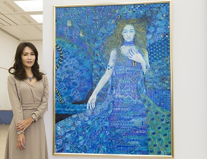 第101回二科展にて工藤静香が出品した「心模様A」(F80号)「心模様B」(F80号)の2作品が入選し、会友推挙に選ばれたことがわかった。