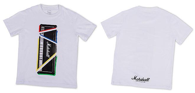 マーシャルのロゴや製品イメージをモチーフにしたTシャツ、ソックス ...
