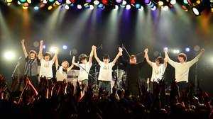 """lego big morl、flumpoolゲストに迎えた始動ライブで、 4月に""""リベンジ""""ワンマンツアー発表"""