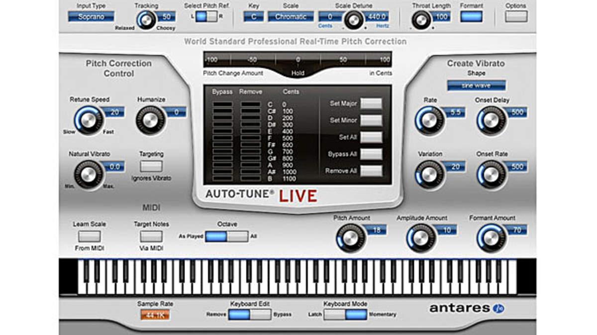 Antaresからステージレコーディングやライブ演奏に最適化したプロ仕様ピッチ補正ソフト「auto Tune