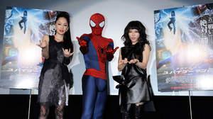 中島美嘉×加藤ミリヤ、『アメイジング・スパイダーマン2』ジャパン・プレミアで新曲を披露