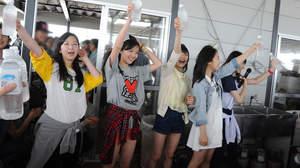 東京女子流、九十九里浜でファンクラブ会員とBBQ&大運動会