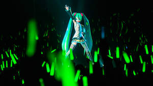 初音ミク、日本初披露曲などで大興奮のスペシャルライブ
