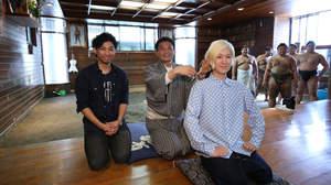 吉田山田、貴乃花部屋で山田の三つ編みを断髪