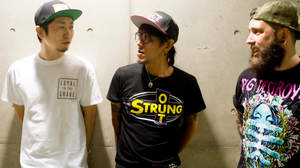 【舞台裏レポ】<SATANIC CARNIVAL>、Jun Gray(Ken Band)×TomohiroとAdam(FACT)