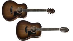 Taylorからビンテージな雰囲気のフィニッシュカラーの2015年限定モデル「326e バリトン6弦/サンバースト」&「360e 12弦/サンバースト」