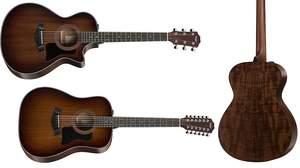 Taylorの300シリーズにブラックウッド採用の「Blackwood 300 Series」が登場
