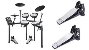 ローランドから振動を大幅に解消し自宅練習に最適な電子ドラム「TD-11KQ-S」と打撃音を最大85%削減したペダル2種