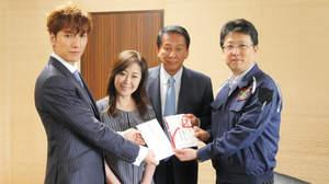 w-inds.橘慶太、熊本市長を表敬訪問。熊本地震復興ライブの収益を寄付