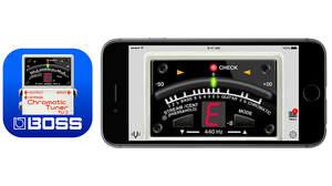 BOSSから無料チューナーアプリ登場、人気モデルと同じデザイン、iOS/Android対応