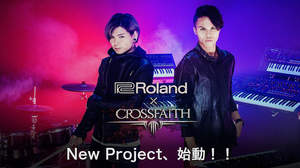 CrossfaithとRolandのコラボ・プロジェクトが始動、キービジュアル&メッセージ公開