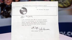 ジョン・レノンから英女王への手紙、ガレージセールで発見