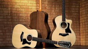 Taylor 100シリーズがウォルナット材にアップグレード、12弦モデル&ナイロンモデルを含む「ウォルナット100シリーズ」6モデルがリリース