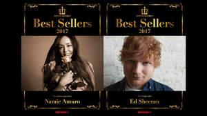 タワレコ「2017 ベストセラーズ」1位に安室奈美恵、乃木坂46、エド・シーラン