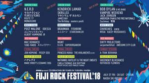 <FUJI ROCK '18>、第8弾で一挙118組+ステージ別発表