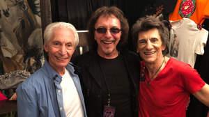 トニー・アイオミ、ザ・ローリング・ストーンズの楽屋を訪問