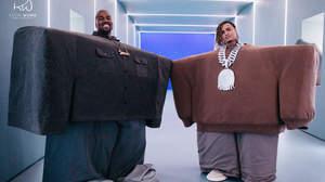 カニエ・ウェスト、Lil PumpとのコラボMVで特大サンダル着用
