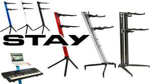 コルグ、抜群の耐久性・軽量化を実現したスタンド・ブランド「STAY」の取り扱いを開始