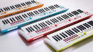 コルグの人気シンセ「KROSS」に鮮やかなネオン・カラーが4色揃って新登場、特別なサウンドもプリインストール