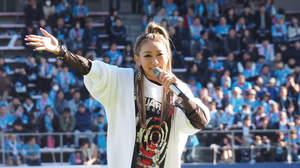 倖田來未、サガン鳥栖ホーム試合最終戦でメドレー披露