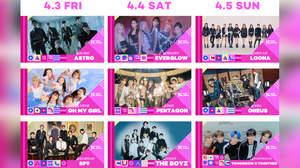 <KCON 2020 JAPAN>にASTRO、EVERGLOW、LOONA、TXTら9組